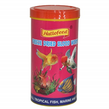 Hallofeed Freeze Dried Blood Worms for Fish