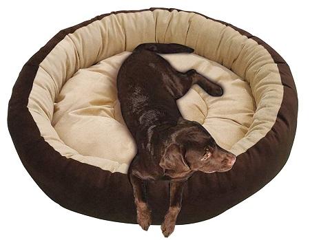 Mellifluous Reversible Super Soft Velvet Round Cat Dog