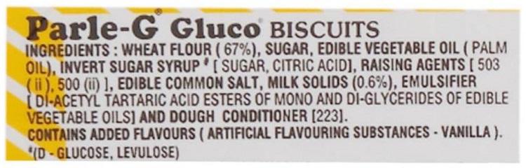Parle G Biscuit Ingredients